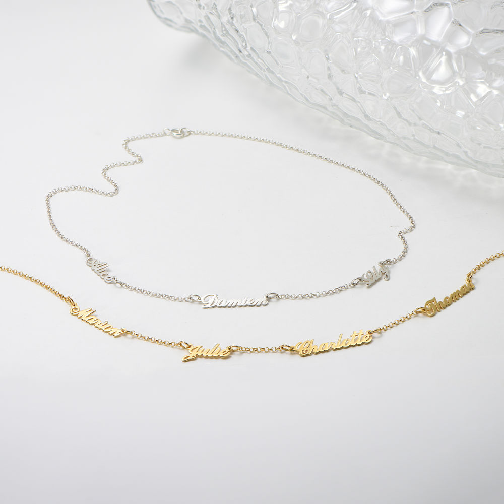 Multiple Name Necklace in Gold Plating - 1