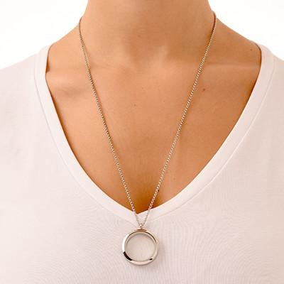 Silver Round Locket - 2