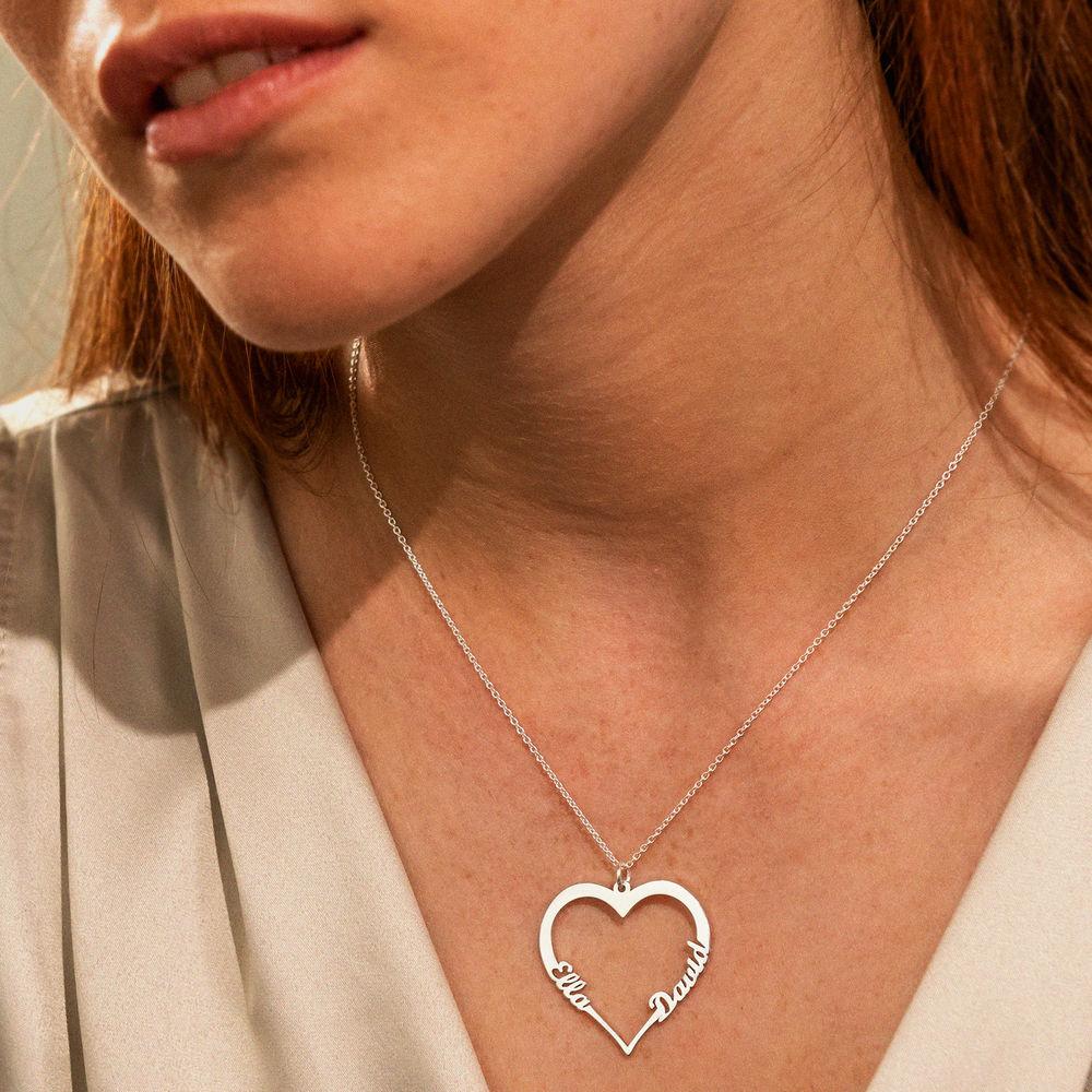 Silver Heart Necklace in 940 Premium Silver - 2