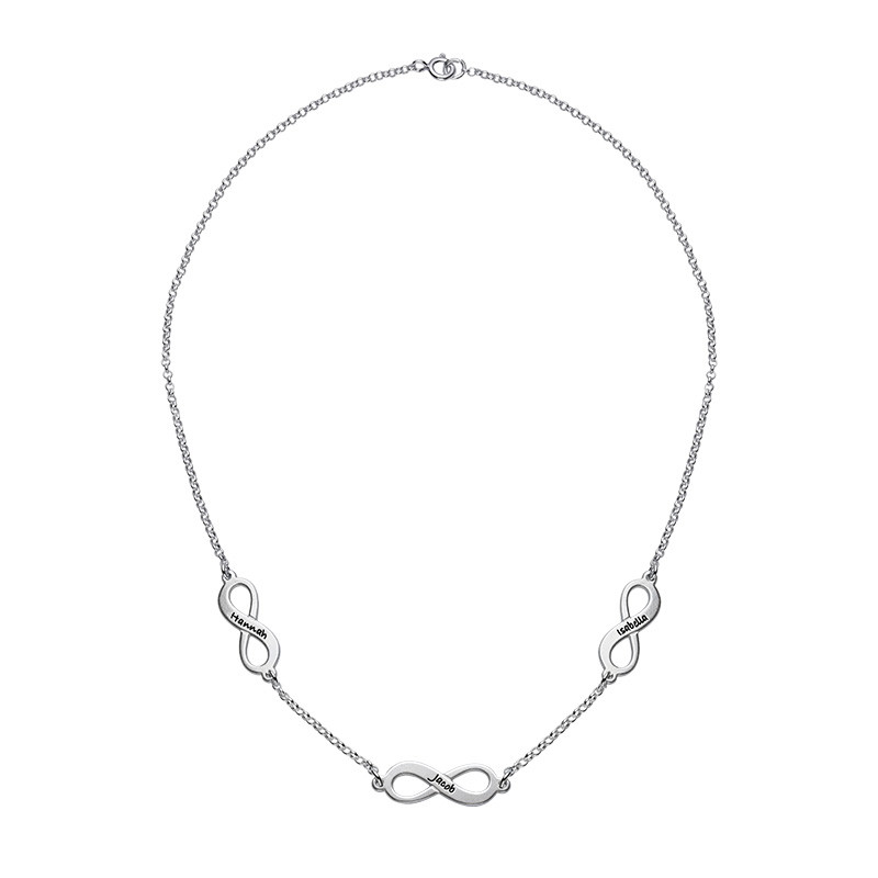 Multiple infinity Necklace in Silver - 1