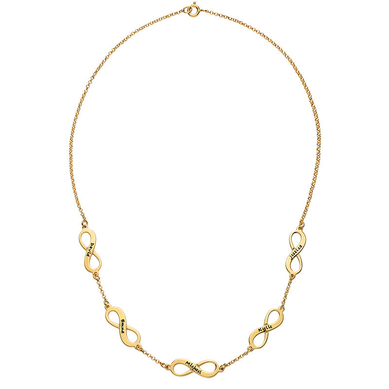 Multiple Infinity Necklace in Gold Plating - 2