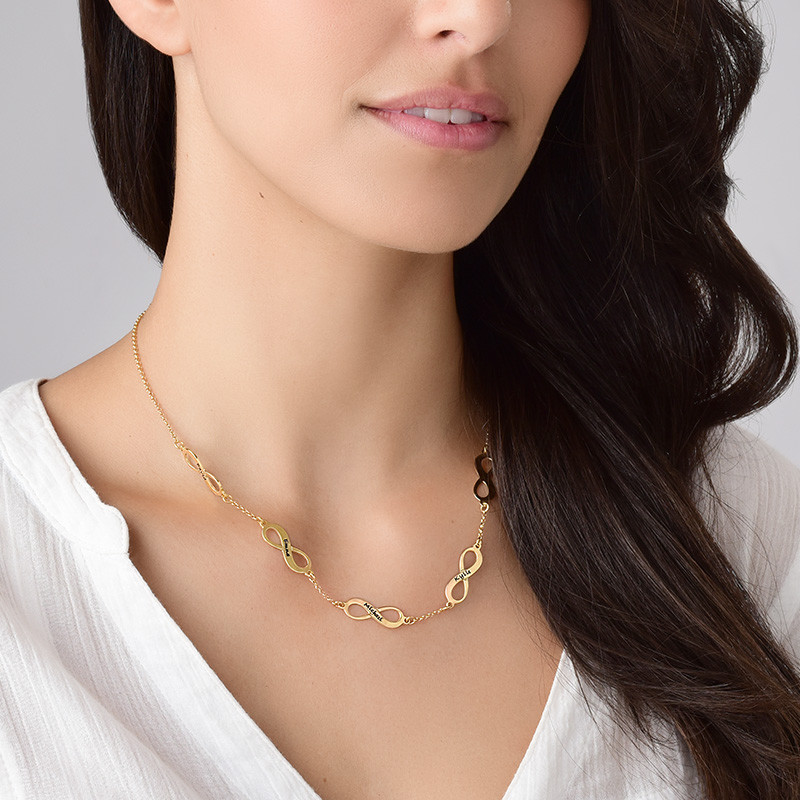 Multiple Infinity Necklace in Gold Plating - 3