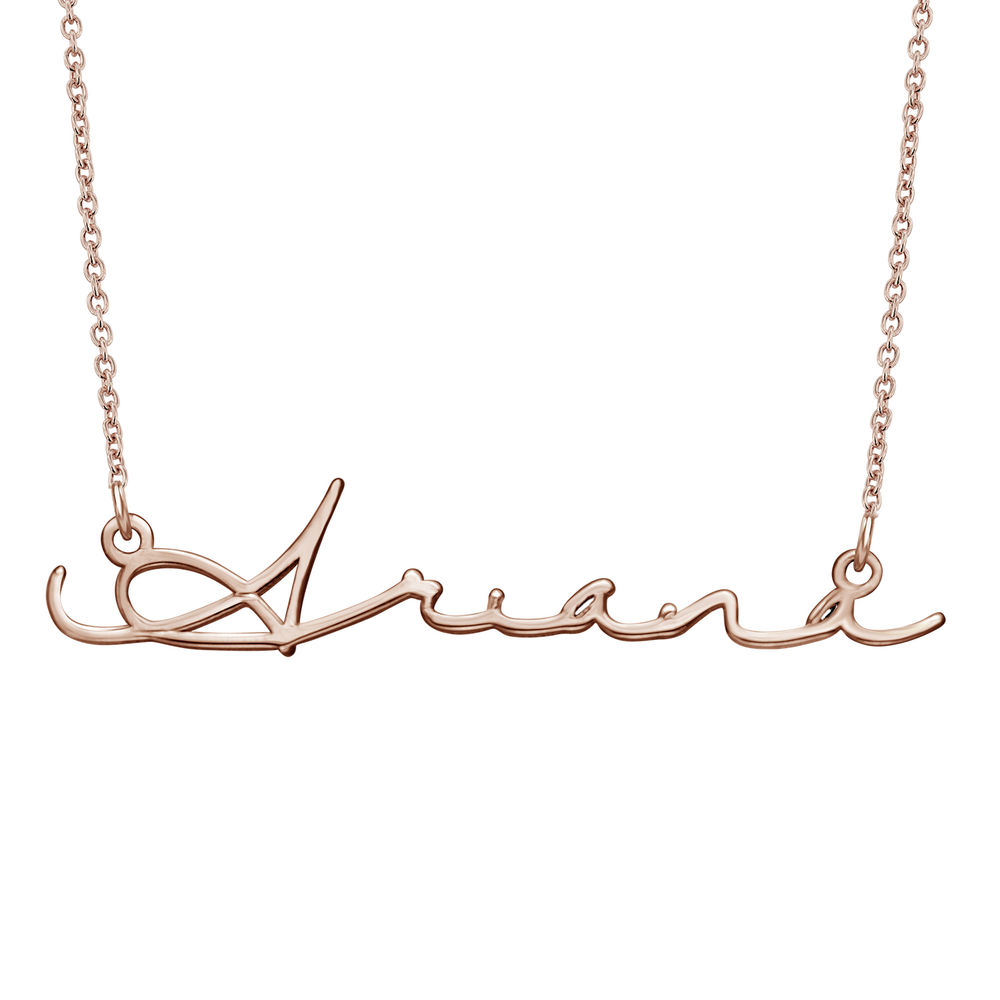 Signature Style Name Necklace - Rose Gold Plated