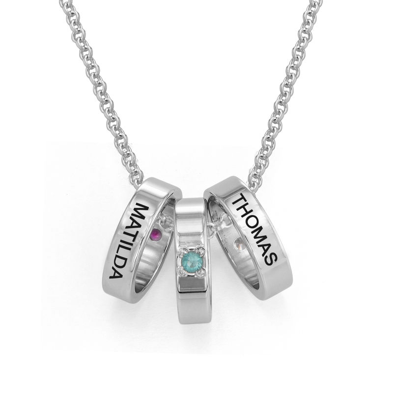 Mother Ring Necklace with Engraving