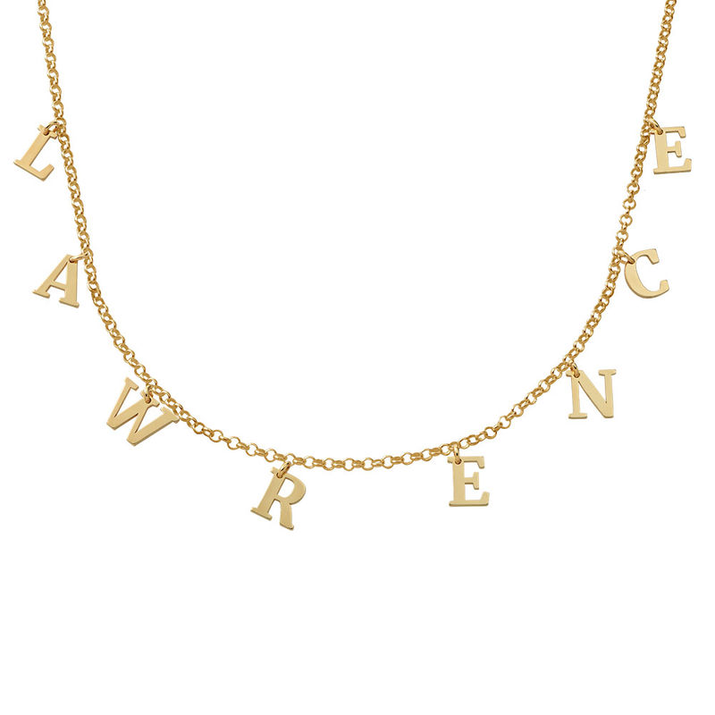 Name Choker with 18ct Gold Plating