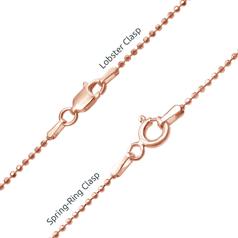 18ct Rose Gold Plated Silver Monogram Necklace - 2