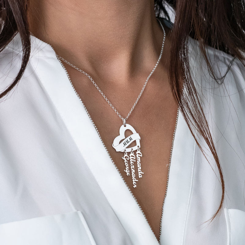 Mother Necklace in Silver with Name Charms - 3