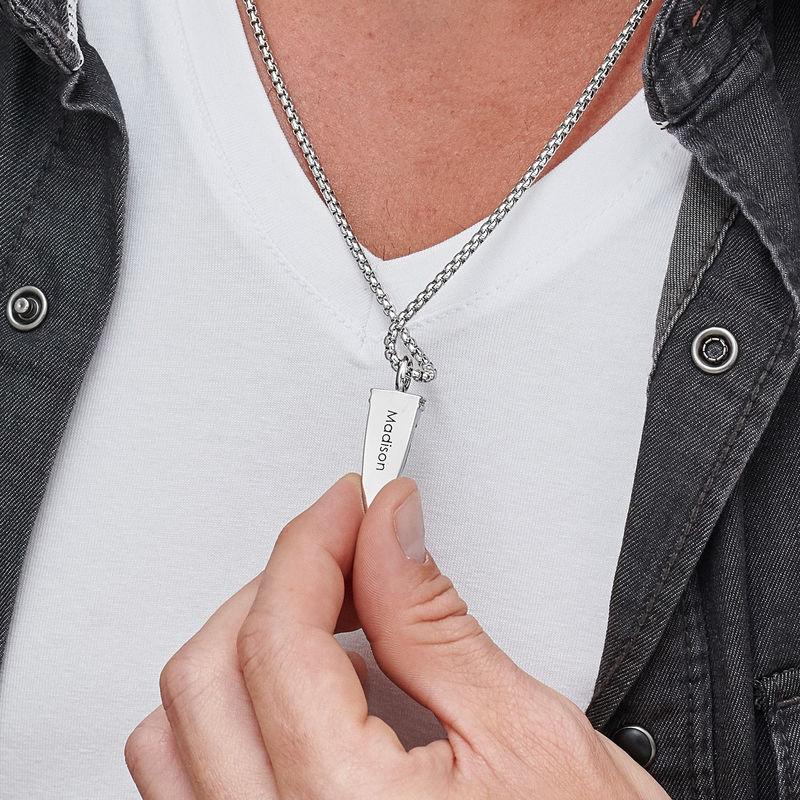 Men's Celtic Dagger Pendant Necklace - 4