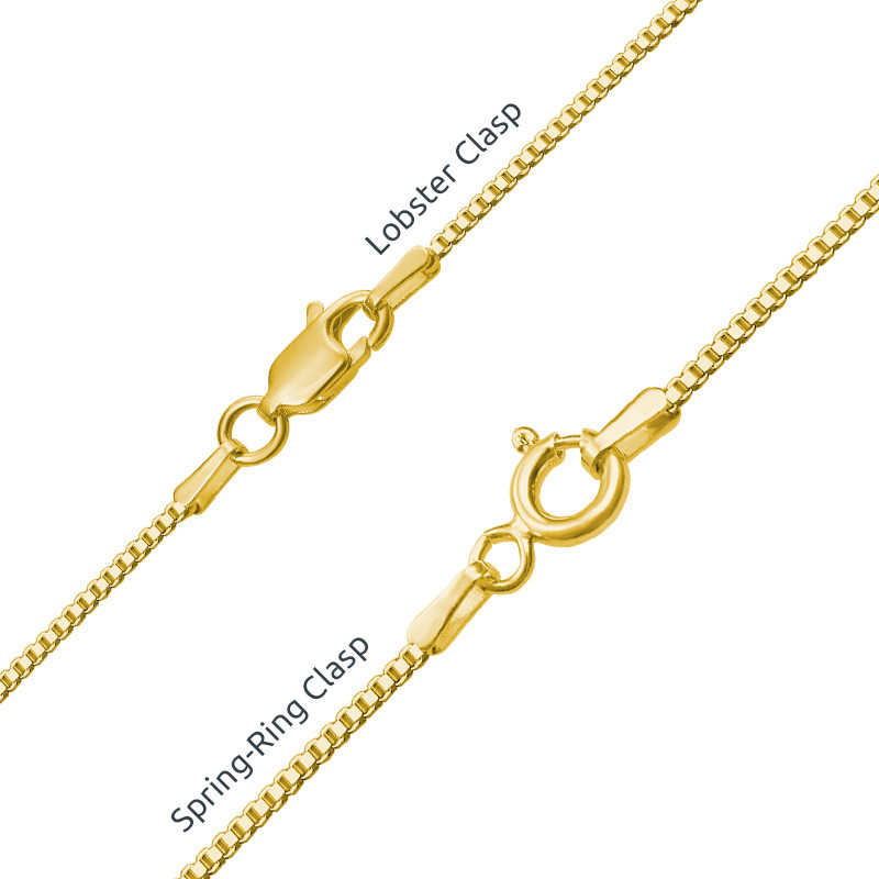 18ct Gold-Plated Silver and Birthstone Name Necklace - 3