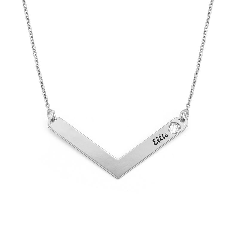 Birthstone Personalised Family Necklace in Sterling Silver - 1