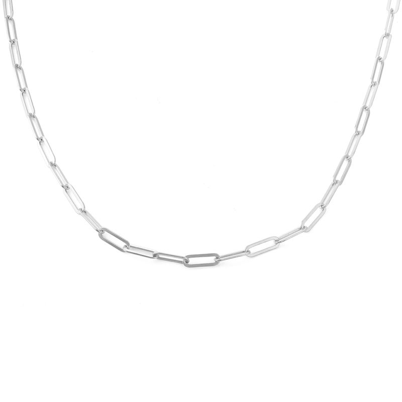 Chain Link Necklace in Sterling Silver