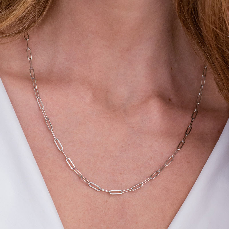 Chain Link Necklace in Sterling Silver - 2