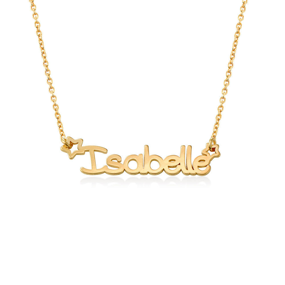 Girls Name Necklace in 18k Gold Plating
