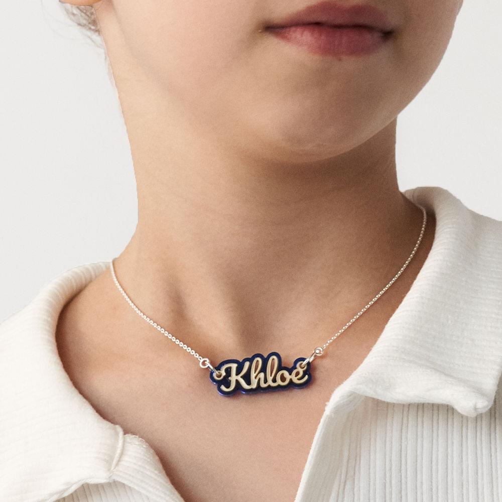 Retro Acrylic Name Necklace! - 7