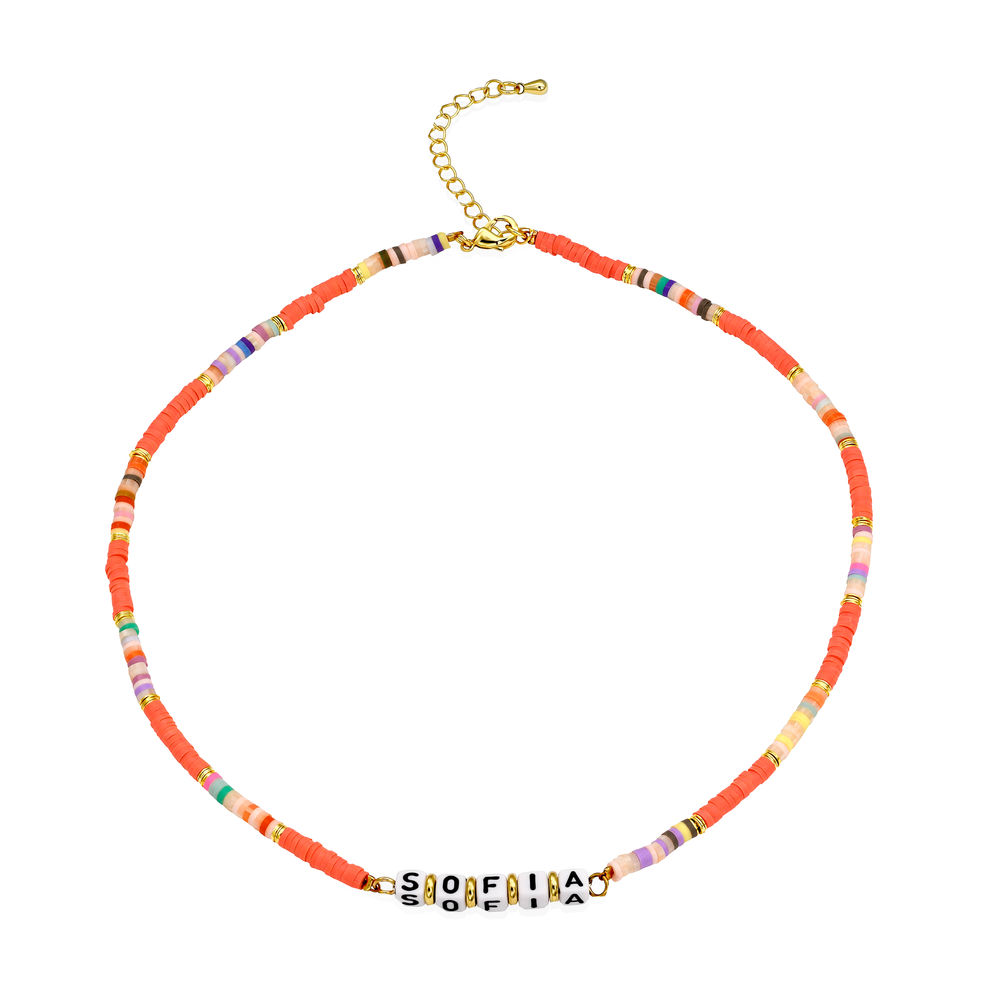Coral Reef Kids Name Necklace in Gold Plating - 1