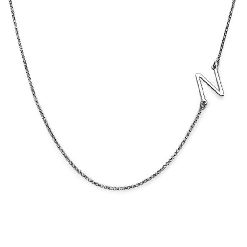 Two Sideways Initial Necklaces - 1