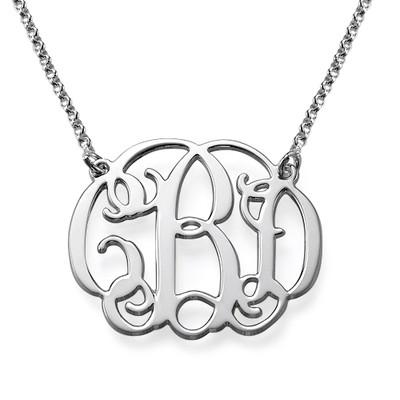 Sterling Silver Celebrity Style Monogram Necklace
