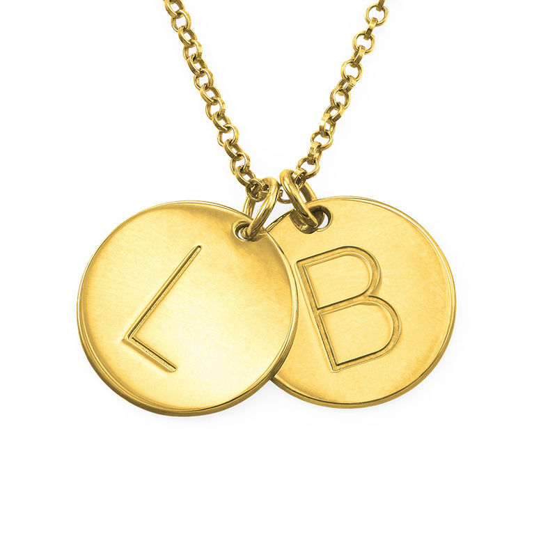 Charm Necklace with Initials in 18ct