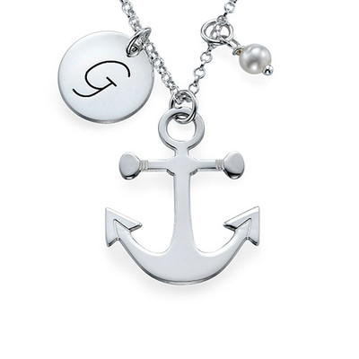Anchor Jewellery with Initial Charm - 1