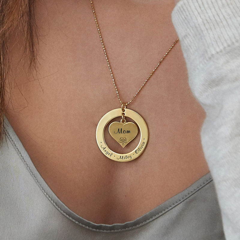 Grandmother Necklace with Names - Gold Plated - 3