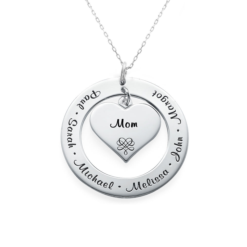 10ct White Gold Grandmother / Mother Necklace - 2
