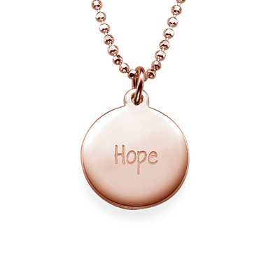 """Inspirational """"Hope"""" Necklace RGP"""