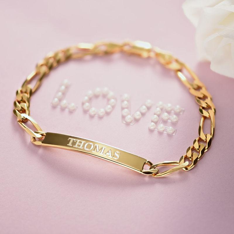 ID Bracelet for Men With Gold Plating - 4
