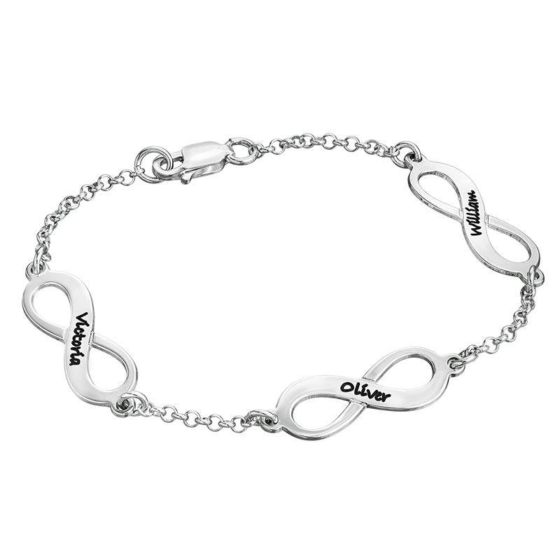 Multiple Infinity Bracelet in Silver
