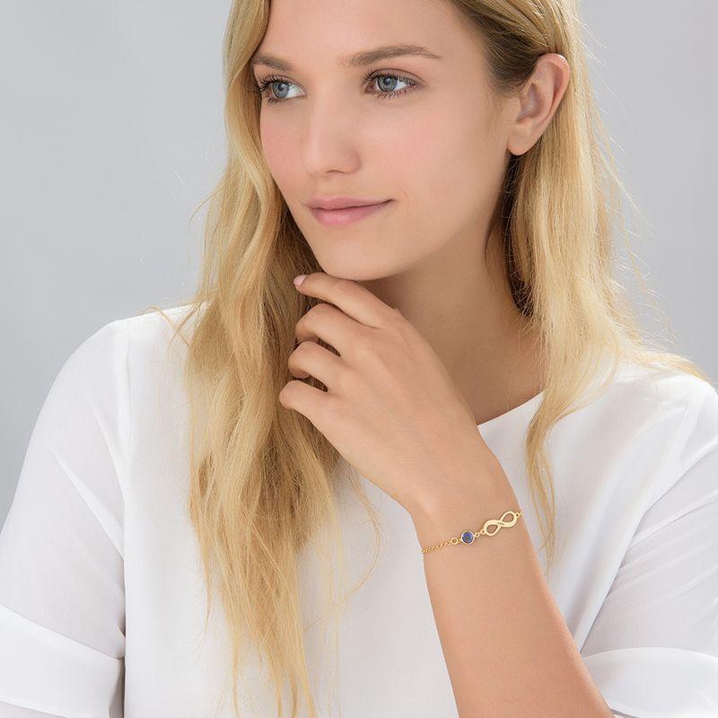 Infinity Birhtstone Bracelet in Gold Plating - 2