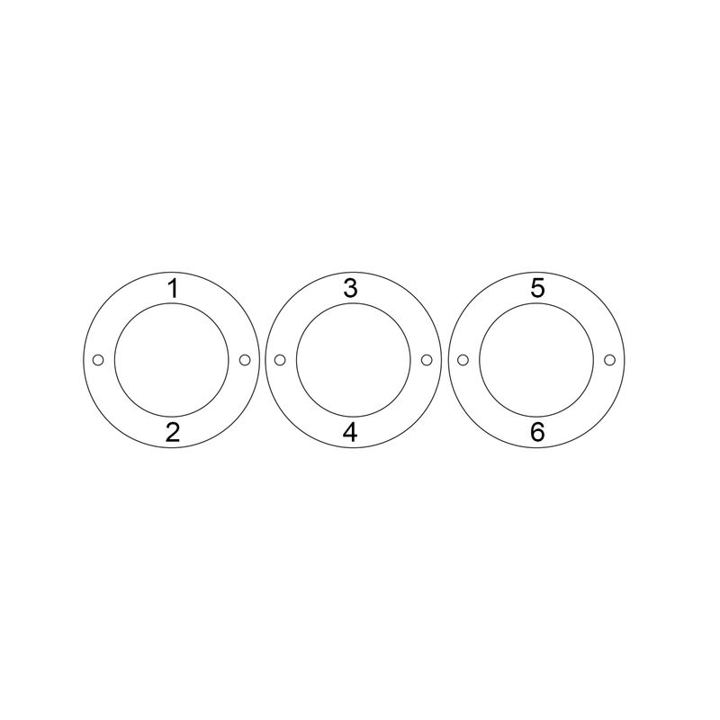 Personalised 3 Circles Bracelet with Engraving in Sterling Silver - 5
