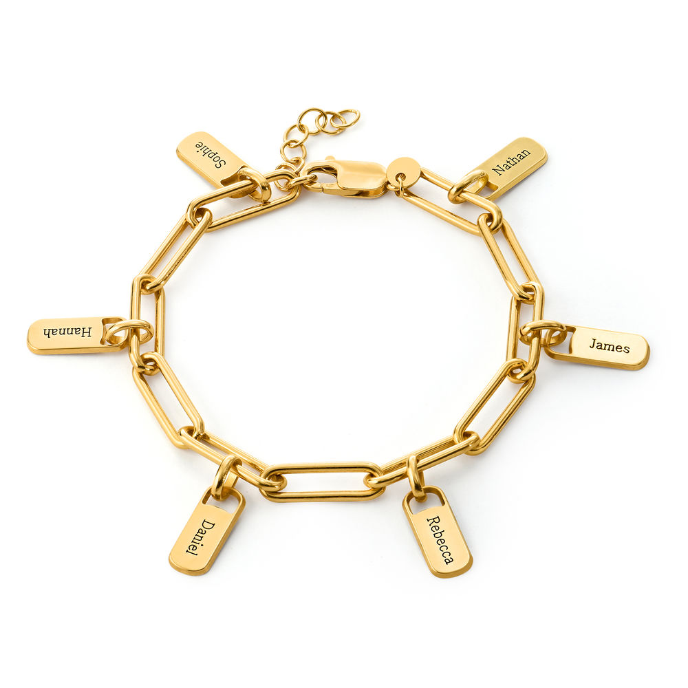 Rory Chain Link Bracelet with Custom Charms in 18ct Gold Plating - 1