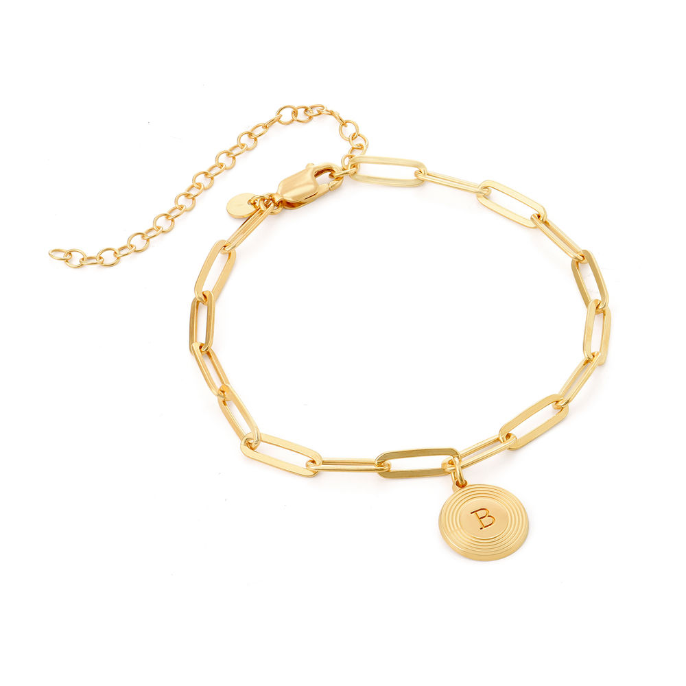 Odeion Initial Link Chain Bracelet / Anklet in Vermeil