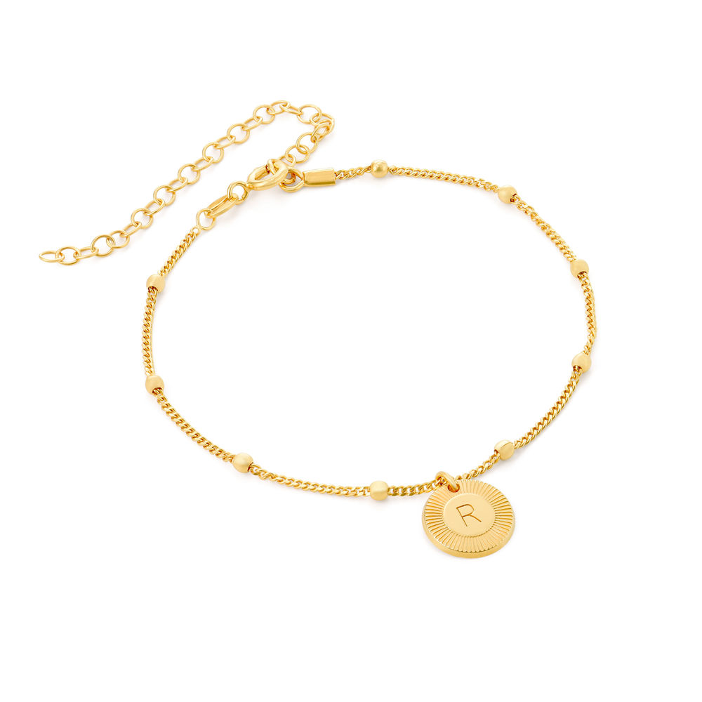 Mini Rayos Initial Bracelet / Anklet in 18ct Gold Plating