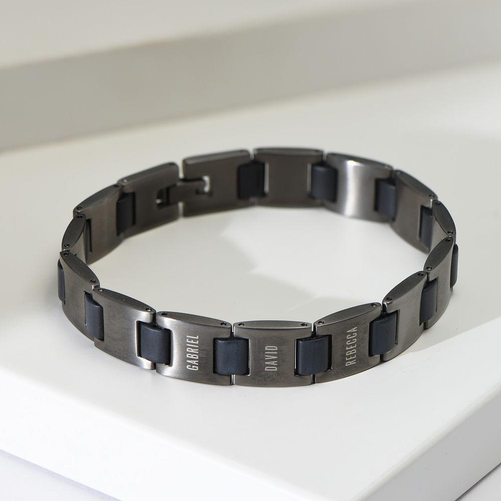 Edge Men's Bracelet in Dark Silver - 1