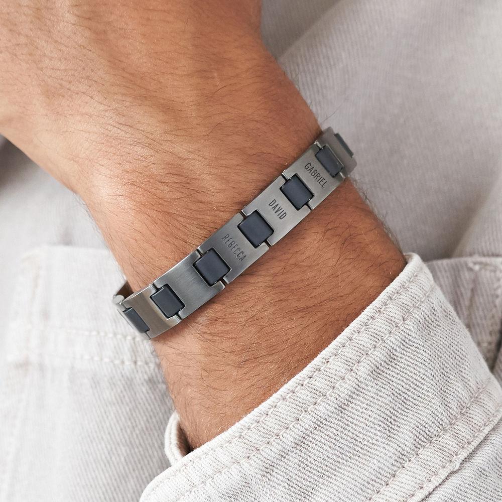 Edge Men's Bracelet in Dark Silver - 2