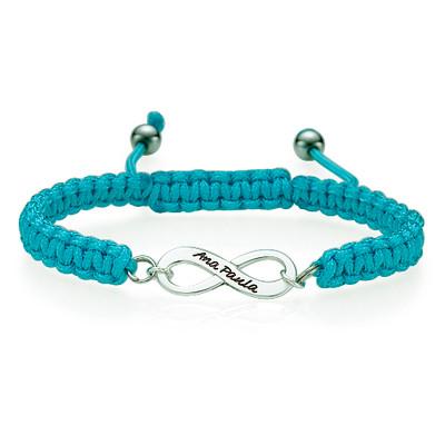Friendship Bracelet With Infinity Pendant - 1