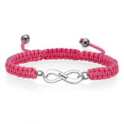 Friendship Bracelet With Infinity Pendant - 2