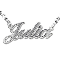 Sterling Silver Classic Name Necklace in Double Thickness product photo