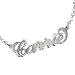 Silver and Crystal Name Bracelet product photo