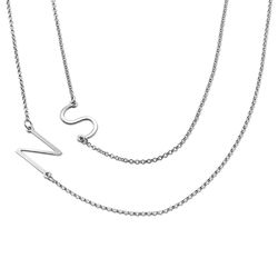 Two Sideways Initial Necklaces product photo