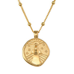 Mary Coin Necklace in Gold Plating product photo