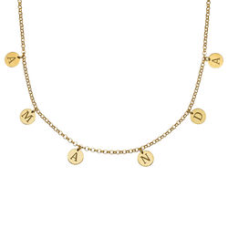 Initials Choker Necklace in Gold Plating product photo