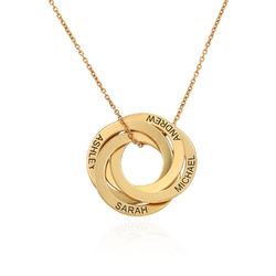 4 Russian Rings Necklace in Gold Plating product photo