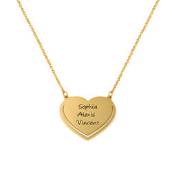 Personalised Heart Necklace in Gold Plating product photo