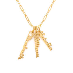 Chain Link Name Necklace in 18ct Gold Plating product photo