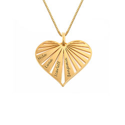 Family Necklace in 18ct Gold Plating - Mini design product photo
