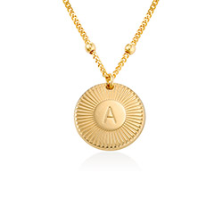 Rayos Initial Necklace in 18ct Gold Plating product photo
