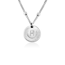 Mini Rayos Initial Necklace in Sterling Silver product photo