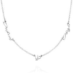 Arabic Multiple Name Necklace in Sterling Silver product photo