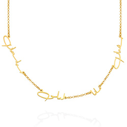 Arabic Multiple Name Necklace in Gold Plating product photo